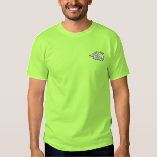 Clipper Ship Embroidered T-Shirt