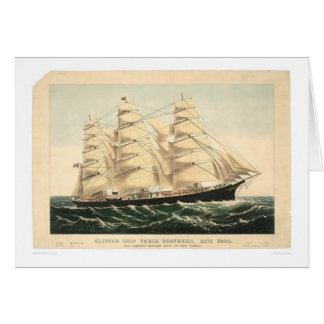 """Clipper ship """"Three Brothers"""" (0406A) Card"""