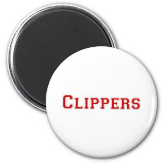 Clippers square logo in red magnet