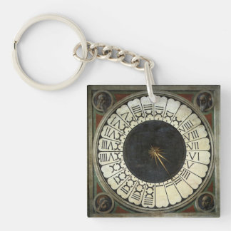 Clock in the Duomo by Paolo Uccello Key Ring