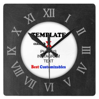 Clock Template   Chalkboard