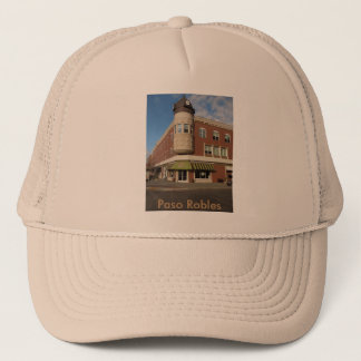 Clock Tower, Downtown Paso Robles, California Trucker Hat