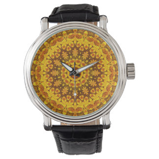 Clockwork Orange Mandala Wristwatch