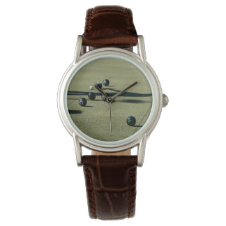 Close_Call,_Ladies_Brown_Leather_Lawn_Bowls_Watch. Watch