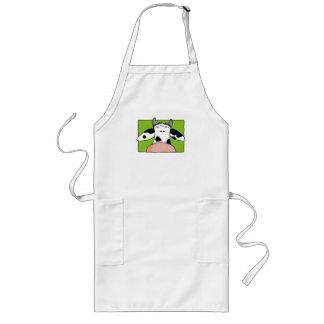 close up cow long apron