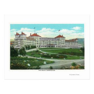 Close-up Exterior View of Mt. Washington Hotel Postcard