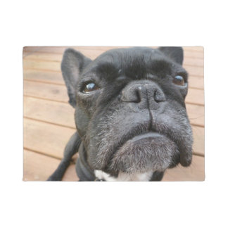 Close Up Frenchie Door Mat