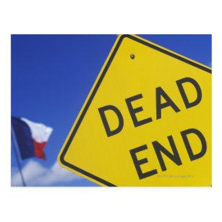 Close-up of a dead end sign, Texas, USA Postcard