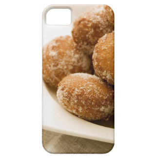Close-up of a tray of a baked sugar coated iPhone 5 cover