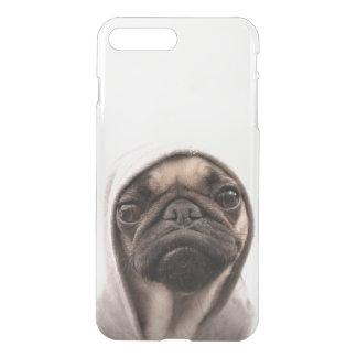 Close up of pug wearing hoodie. iPhone 8 plus/7 plus case