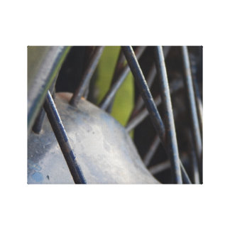 Close up tyre frame canvas print
