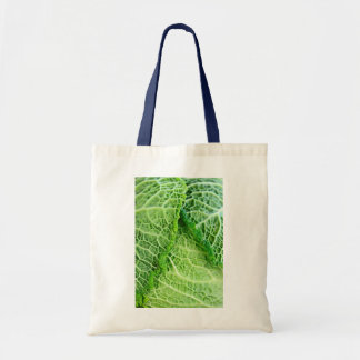 Closeup of green cabbage leaves tote bag