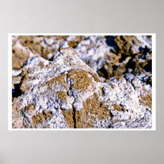 Closeup, Salt Flats Poster