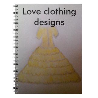 Clothing design on- photo notebook