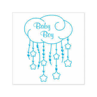 Cloud Beads Stars Mobile Baby Boy Self-inking Stamp