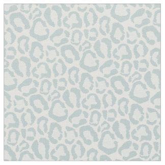 Cloud Blue Leopard Animal Print Fabric