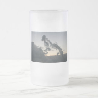 Cloud formation, dog skeleton? cartoon? mug