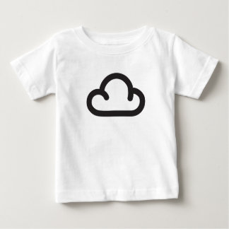 Cloud: Retro weather forecast symbol Baby T-Shirt