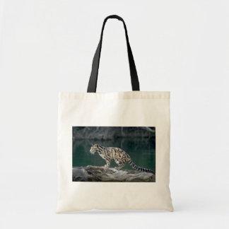 Clouded leopard canvas bags