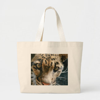 Clouded Leopard Tote Bags