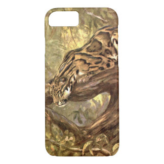 Clouded Leopard by CE Swan, Vintage Wild Animals iPhone 7 Case