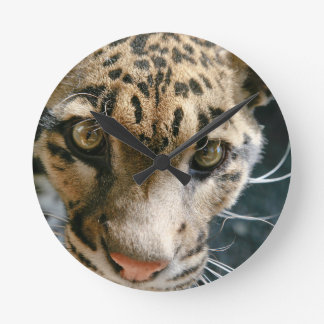Clouded Leopard Round Wall Clock