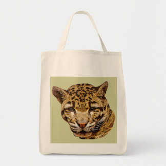 Clouded Leopard Grocery Bag