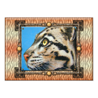 "Clouded Leopard 5"" X 7"" Invitation Card"