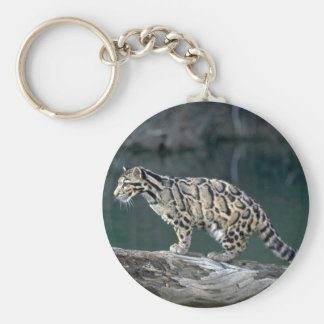Clouded leopard key chains