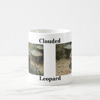 Clouded, Leopard Basic White Mug