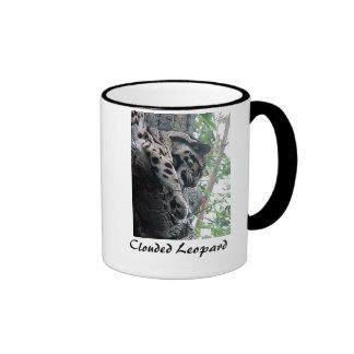 Clouded Leopard Ringer Mug