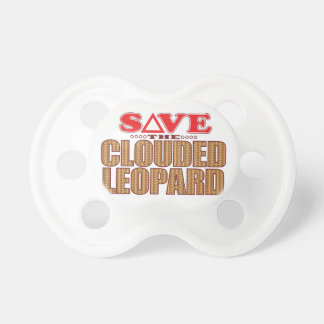 Clouded Leopard Save Baby Pacifier
