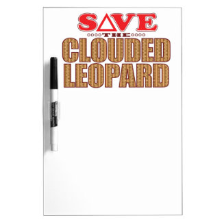 Clouded Leopard Save Dry-Erase Whiteboard