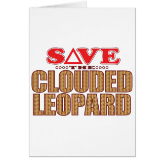 Clouded Leopard Save Greeting Card
