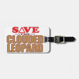 Clouded Leopard Save Luggage Tag