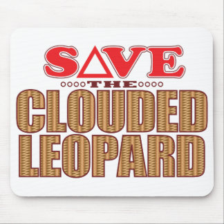Clouded Leopard Save Mouse Pad