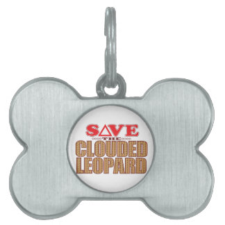 Clouded Leopard Save Pet ID Tag