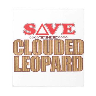 Clouded Leopard Save Scratch Pad