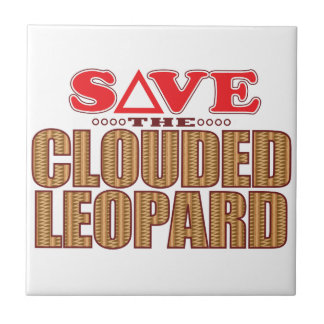 Clouded Leopard Save Small Square Tile