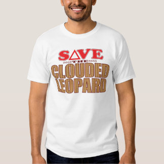 Clouded Leopard Save T-shirts