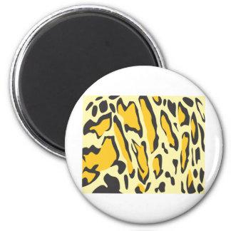 Clouded Leopard Skin Pattern 6 Cm Round Magnet
