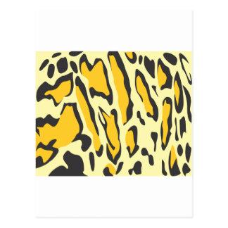 Clouded Leopard Skin Pattern Postcard