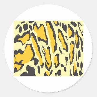 Clouded Leopard Skin Pattern Round Sticker