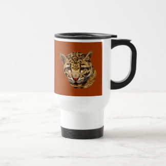 Clouded Leopard Stainless Steel Travel Mug