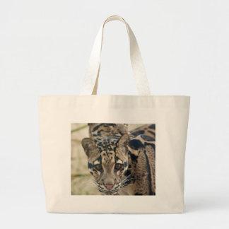 Clouded leopards canvas bags