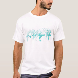 Clouded Leopards on a Log  -- Light Blue T-Shirt