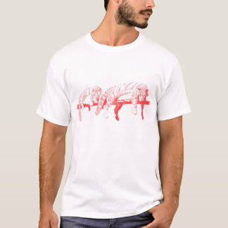 Clouded Leopards on a Log  -- Red T-Shirt