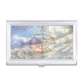 Clouds Compass Business Card Cases