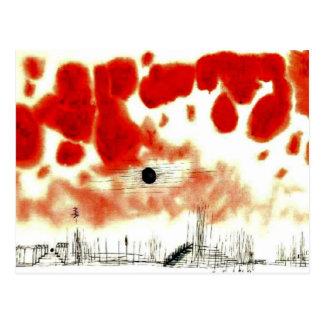 Clouds over Bor, Klee art Postcard