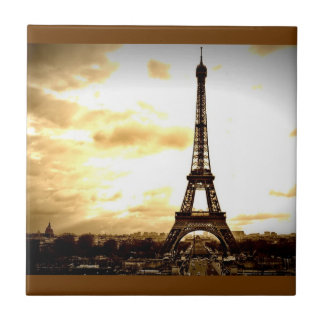 Clouds Over Paris Tile